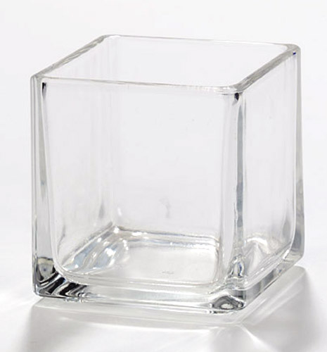 Cube Glass Candle Jars