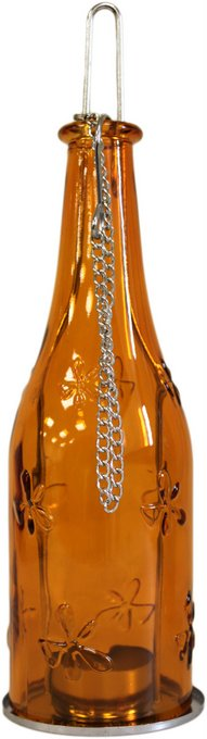 Candle Lantern - Bottle Lanterns Amber