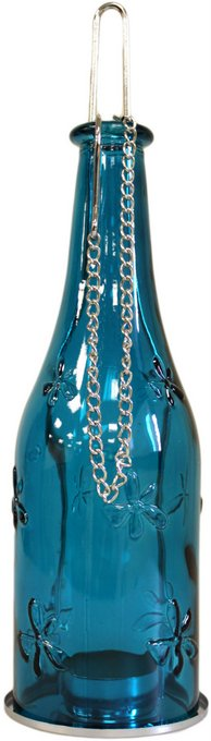 Candle Lantern - Bottle Lanterns Teal
