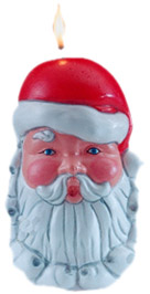 Latex Candle Mould - Santa